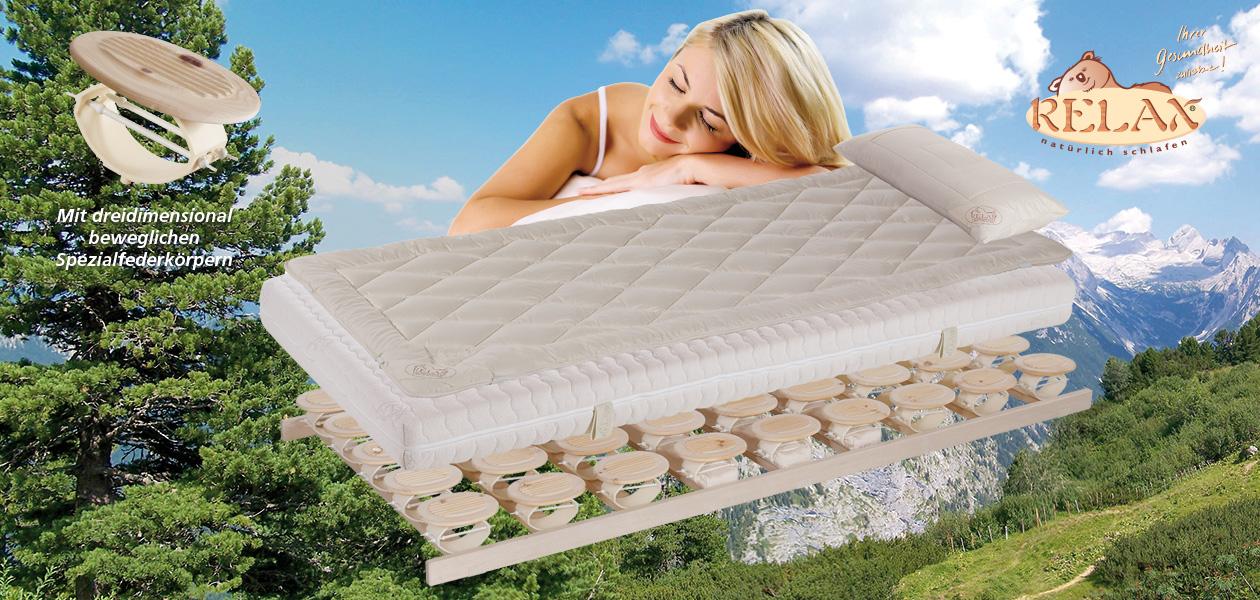 Schlafsystem Relax Gesund Schlafen Mit Zirbe Nöbauer